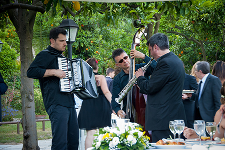 Musica al Matrimonio – Trio jazz per allietare il banchetto di nozze – Wedding  in Naples.