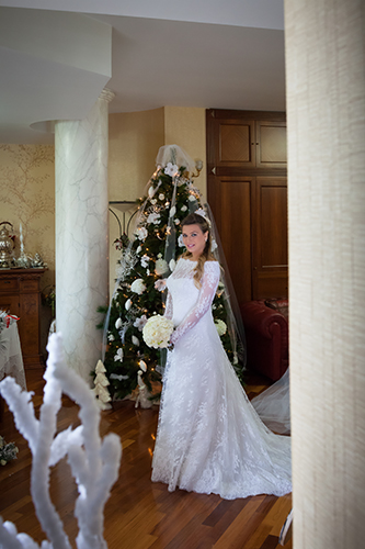 Matrimonio D'Inverno – Abito da Sposa dell'Atelier Elena Colonna, Vestito in Pizzo Francese – Marriage – Wedding Photographer.